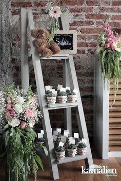 www.kamalion.com.mx - Baby Shower / Rosa & Gris / Pink & Gray / Vintage / Rustic Decor / Decoración / Recuerdos / Detalles ...