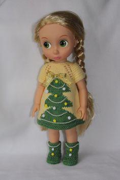 """Новогоднее платье для куклы из серии """"Принцессы Дисней Аниматорс"""" / Одежда для кукол / Шопик. Продать купить куклу / Бэйбики. Куклы фото. Одежда для кукол"""