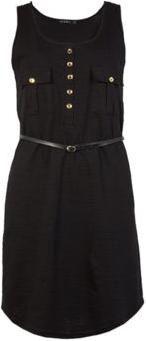Vestido Curto Comfort Preto