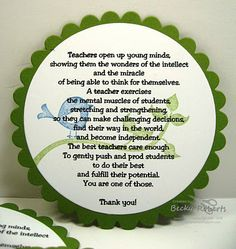 Teacher Appreciation Poem