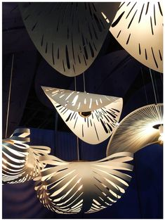 Showcase of MOS products at 2019 Design Johannesburg featuring Rooms on View. Featured products are: CLOUD lamps, RAIN FOREST cluster and FRENCH HAT statement lighting. French Hat, Cloud Lamp, Lamps, Rain, Chandelier, Rooms, Clouds, Texture, Lighting