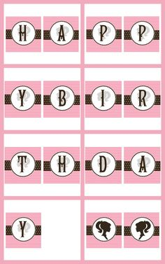Vintage Barbie Printable Birthday Banner by sweetmadygifts on Etsy, $10.00