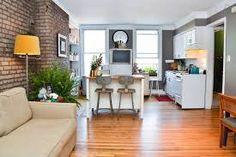 Resultado de imagen para cocinas de apartamentos pequeños rusticas con ladrillos