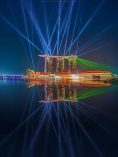 "A glimpse of ""Wonder Full"": South East Asia's largest water and light show.. Singapore"