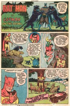 Batman in Catman on the Prowl - Hit home buttton at bottom of page for more Hostess Snack Cakes comic book ads!