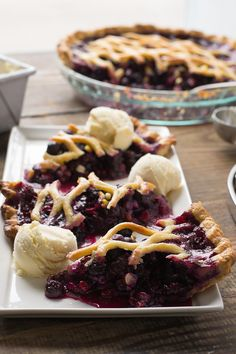 Summer Blueberry and Corn Pie