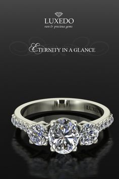Eternity in a Glance Choose your diamond and the setting of your dreams! Visit http://www.luxedogems.com/diamond/