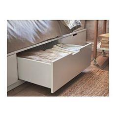 IKEA - NORDLI, Bettgestell mit Schubladen, 160x200 cm, , Die 6 geräumigen Schubladen sorgen für zusätzlichen Stauraum unter dem Bett.Integrierte Stopper dämpfen den Schwung beim Zuschieben und sorgen für langsames, geräuschloses Schließen der Schubladen.