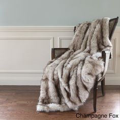 Wild Mannered Luxury Long Hair Faux Fur 58x60 Lap Throw | Overstock.com Shopping - The Best Deals on Throws