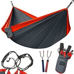 Humble High Strength Parachute Nylon Fabric Camping Single Parachute Hammock With Strong Rope For Camping Hiking Travel Sleeping Bags Sports & Entertainment