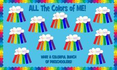 Summer Bulletin Boards For Daycare Discover All About Me Rainbow - First Day of School Activity Back To School Bulletin Board Idea and Kindergarten Lesson Plan All About Me Preschool Theme, All About Me Crafts, All About Me Activities, First Day Of School Activities, First Day In School, All About Me Project, First Day Of Spring, Sunday School, Rainbow Bulletin Boards