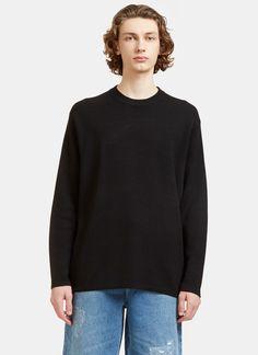 ACNE STUDIOS Men'S Kicha Zipped Crew Neck Sweater In Black. #acnestudios #cloth #