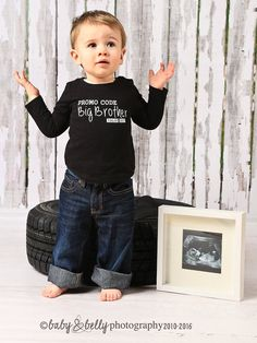 WINZIK Toddler Boys Big Brother T-Shirt Outfit Promoted to Big Brother Announcement Tee Shirt Tops Clothes Costume
