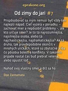 Od zimy do jari: deň 7 Development Quotes, Self Development