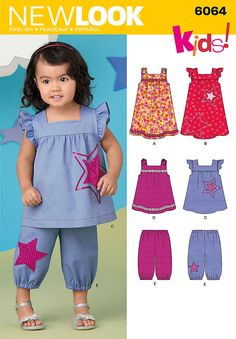 New Look 6064 for kids - thinking the top in white cotton batiste and pants in grey linen.