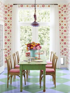 This dining room makes you feel like you're eating in a garden #hgtvmagazine http://www.hgtv.com/decorating-basics/a-house-that-makes-you-smile/pictures/page-4.html?soc=pinterest