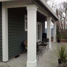 We proudly offer the Pacific Columns, Inc. W x Endura-Craft Square Non-Tapered, Smooth Column, Crown Capital & Crown Base (Plan Type N) Front Porch Pillars, House Pillars, Front Porch Posts, Front Porch Design, Wood Columns Porch, Yard Design, Craftsman Style Porch, Craftsman Columns, Craftsman Kitchen