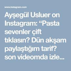"""Ayşegül Usluer on Instagram: """"Pasta sevenler çift tıklasın💗 Dün akşam paylaştığım tarif😍 son videomda izleyebilirsiniz. Fıstıklı çikolatalı pasta Malzemeler; Çikolata…"""""""