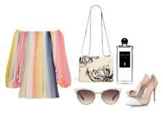 """""""classy sunny day"""" by frida-mtz on Polyvore featuring moda, Chloé, Gianvito Rossi, Gucci, 3.1 Phillip Lim, Serge Lutens, gucci y offtheshoulder"""