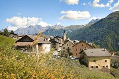 Guarda, the best preserved of the Engadine villages