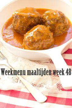 Weekplanning maaltijden week 48