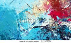 Cold blue winter pattern with lighting effect. Fractal artwork for creative graphic design Image Illustration, Color Textures, Abstract Painting, Creative Graphic Design, Painting, Stock Illustration, Abstract Images, Abstract, Motion Backgrounds