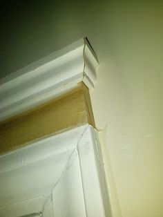 Mom and Her Drill: Creative Door Trim -- How to add molding to generic door frame