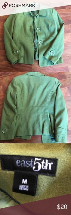 Medium green east 5th jacket Green size medium east 5th jacket in excelllent condition Jackets & Coats