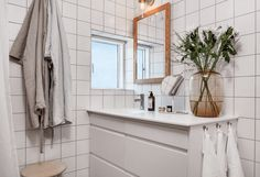 Scandinavian Bathroom Accessories have a history dating back. Pick More Wonderful Scandinavian Bathroom Accessories Ideas Scandinavian Bathroom Accessories, Modern Boho Bathroom, Modern Scandinavian Interior, Scandinavian Kitchen, Scandinavian Interior Design, Simple Bathroom, Bathroom Ideas, Apartment Therapy, Apartment Nursery