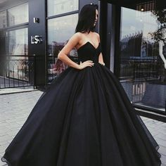 Ball Gown Sweetheart Prom Dresses,Floor-length Sleeveless Prom Dress,Lace up Black Evening Dress,Prom Dresses NU54