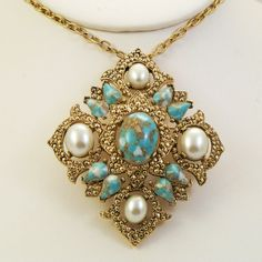 Vintage 1960s Necklace Brooch Sarah Coventry by Revvie1 on Etsy, $32.00