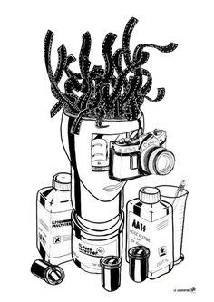 La Laborantine (420x594mm) Posca/Muji