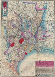 Tokyo Map, 1886