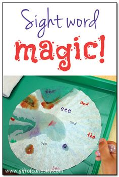 Sight word magic: Use the magic of coffee filter chromatography to learn to read! || Gift of Curiosity