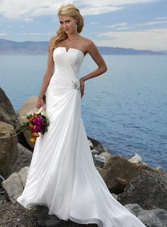 Strapless Elegant Wedding Dress