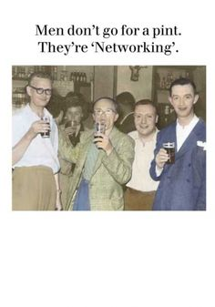 Men 'Networking' : Cath Tate Cards