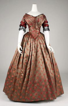 Evening dress ca. 1842  From the Metropolitan Museum of Art
