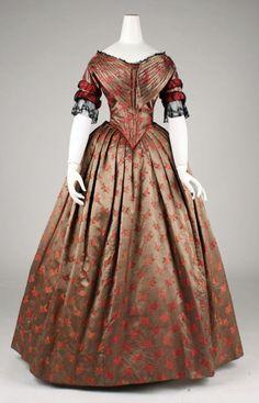 Evening dress ca. 1842  From the Metropolitan Museum of Art