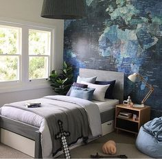 BEDROOM DESIGN IDEAS - Find your favorite bedroom photos here. Browse through images of inspiring bedroom design ideas to create your perfect home. Cool Bedrooms For Boys, Kids Bedroom Boys, Boys Room Decor, Awesome Bedrooms, Bedroom Ideas For Teen Boys, Boys Room Design, Boy Bedrooms, Teenage Room, Bedroom Photos