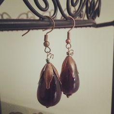 Aubergine Earrings by julietfieldew