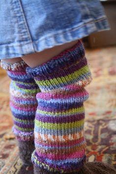 The cutest legwarmies for a little girl! free
