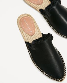 LEATHER SLIDE-ON ESPADRILLES-View all-SHOES-WOMAN | ZARA United States