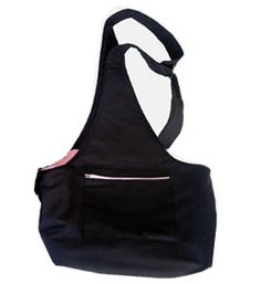 Dog Sling Spoiled Pooch Black or Brown With Pink For Small Pets