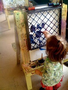Fine Motor Crate Painting - looks interesting to add eye hand coordination/ visual motor skills to artwork