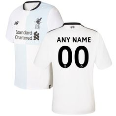Liverpool New Balance 2017 18 Away Elite Authentic Commemorative Custom  Jersey - White New Balance ba9436e61