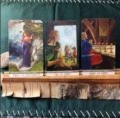 Real life tarot images from Diane (craftedcb)instagram  two of Pentacles, two- six of cups , nine of cups
