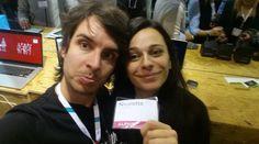 #websummit 2014. Nicoletta & Alberto Taking a selfie.