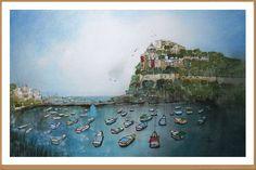 Ischia - Gianluigi Punzo - Naples - Napoli - Italy - Italia - Watercolor - Acquerello - Aquarelle - Acuarela