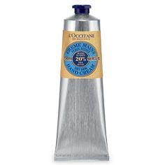 L'Occitane - Shea Butter Hand Cream  A little bit goes a long way. Amazing, effective hand cream. Smells great too.