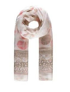 Ladies Women/'s Pink Daisy Flocked Long Scarf Mothers Day Gift Scarves Floral